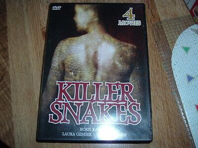 Killer Snakes DVD 2DISC 4Movie  BLACK COBRA LAURA GEMSER NEKKID HAPPY HALLOWEEN - Laura Halloween