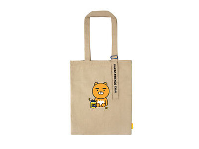 KAKAO FRIENDS Eco Bag Foldable Natural Cotton Reusable Grocery Shopping Bag Ryan