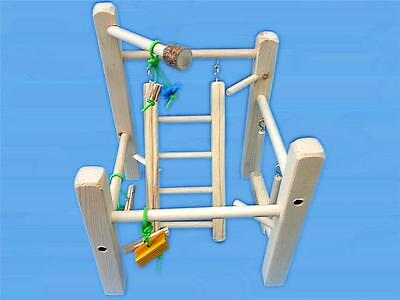 Cage Top Play Gym For Parrotlets, Budgies, Love Birds, With Ladd,Swing,&Toys