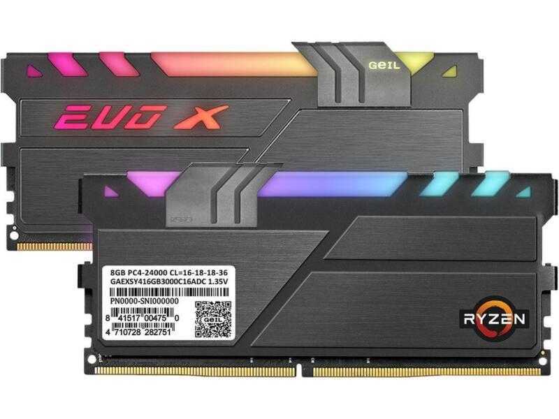 GeIL EVO X II AMD Edition 16GB (2 x 8GB) 288-Pin DDR4 SDRAM DDR4 3000 (PC4 24000