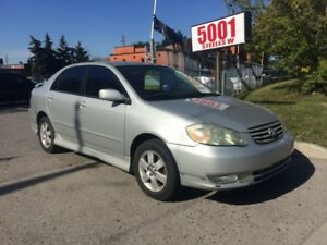 2003 Toyota Corolla 143KM,SHIPPERS SPECIAL $2400