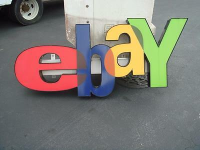 Lighted eBay Storefront Retail Sign