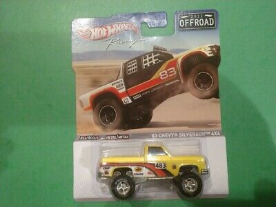 Hot Wheels Racing 2012 Off Road '83 Chevy Silverado 4x4 with real riders