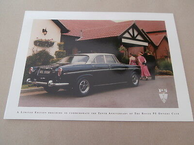 Rover P5. owners club. brochure. 1995  Collectors condition..