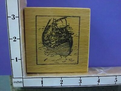 Sailboat in a Storm rubber stamps 26P