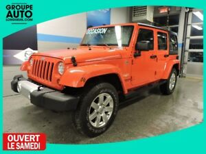 2013 Jeep Wrangler Unlimited SAHARA GPS 2 TOITS 4 PORTES LOW MIL