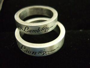 Rare Twilight Lion Lamb His Her 2pc Ring Box Set New Moon Eclipse Breaking Dawn