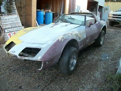 79 Corvette Gasser project Street rat rod  t top race car
