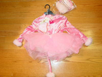GIRLS INFANT 2T PINK FAIRY PRINCESS PUPPY HALLOWEEN COSTUME CHILD TODDLER  NEW