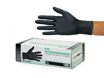 Einweghandschuhe Einmalhandschuhe Nitrilhandschuhe 30x100 Stück L Nitril schwarz