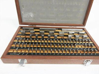 Mitutoyo 516-902 Rectangular Gage Block Set Grade 2 Be1-81-2 81 Piece - Extras