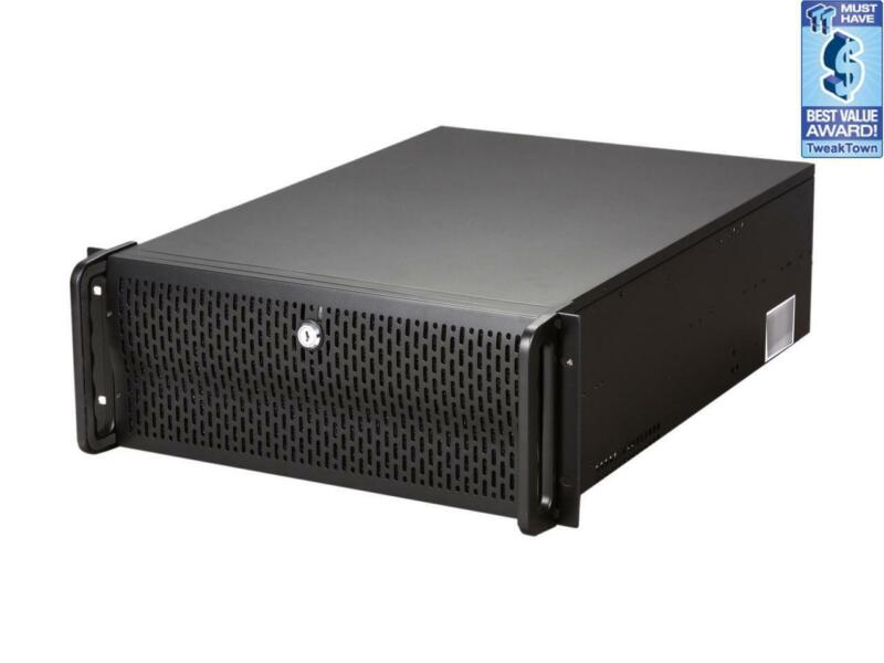Rosewill RSV-L4000 - 4U Rackmount Server Case / Chassis - 8 Internal Bays, 7 Coo