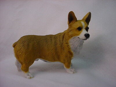 CORGI dog HANDPAINTED FIGURINE Welsh Pembroke Puppy NEW resin Statue COLLECTIBLE