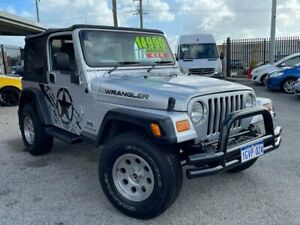 2005 Jeep Wrangler TJ Renegade Softtop 2dr Man 6sp 4x4 4.0i [MY05] Silver Manual Softtop