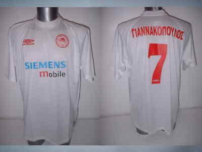 Olympiakos XL Stelios Giannakopoulos BNIB Shirt Jersey Soccer Greece Bolton 2001