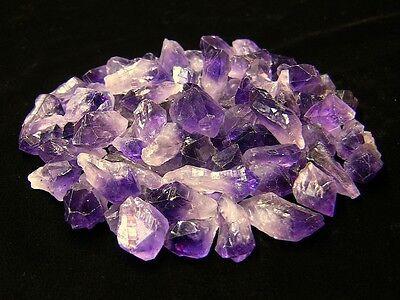 500 Cts Amethyst Points & Pieces 1/4 Lb Lots Natural Dark Purple Crystal (Purple Amethyst Crystal)