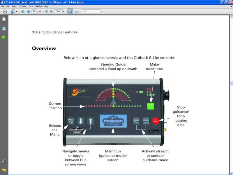 New OUTBACK S-LITE GPS GUIDANCE LIGHTBAR SLite S2 S3