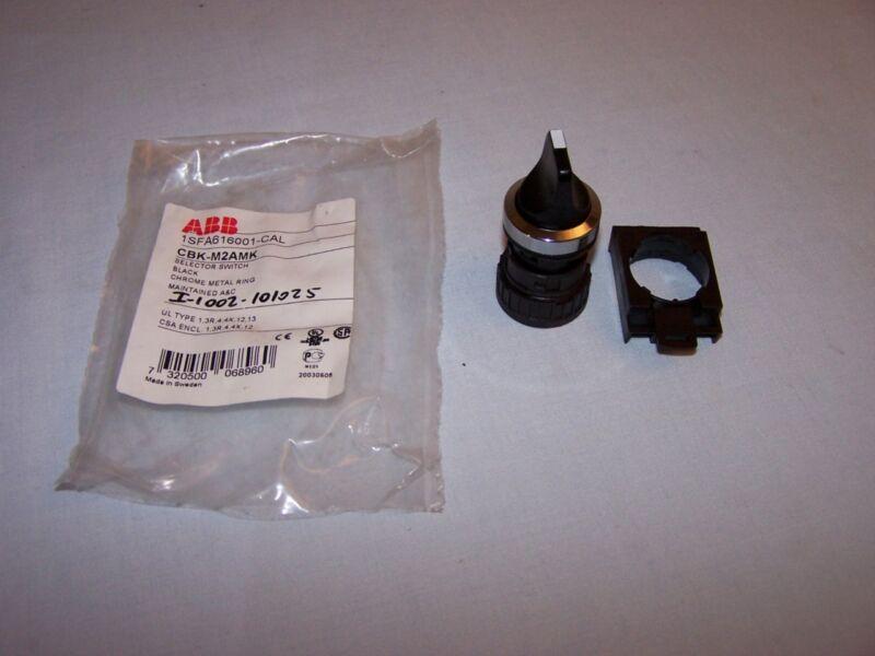 ABB 1SFA616001-CAL CBK-M2AMK BLACK SELECTOR SW CHROME METAL RING NEW lot of 10