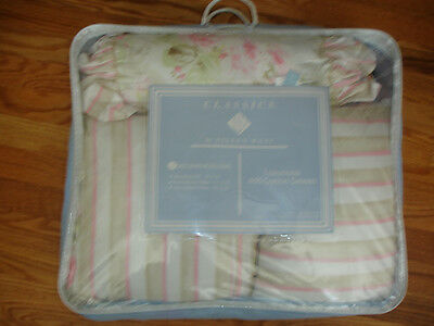 CLASSICS BY EILEEN WEST 3 DECORATIVE PILLOWS BELLA ROSE PINK WHITE BEIGE ROSES