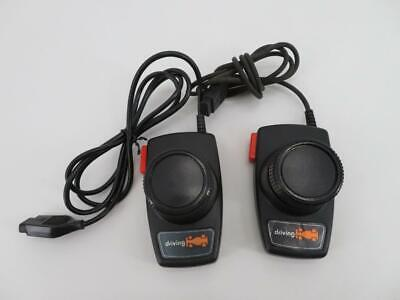 AUTHENTIC Lot of 2 Atari 2600 Indy 500 Driving Controller Paddle CX-20 // Works!