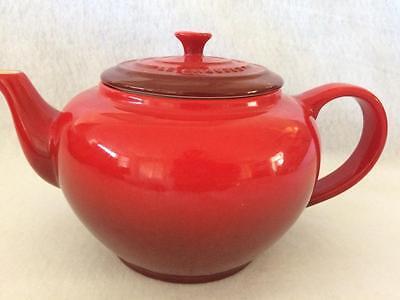 Le Creuset Stoneware Large 32-Oz Teapot--Cerise Cherry Red