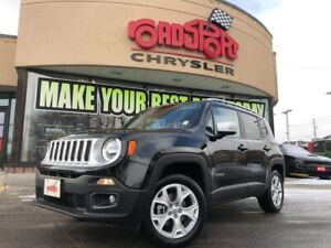 2018 Jeep Renegade LIMITED 4X4, NAVI, REAR CAM, H-TED SEATS