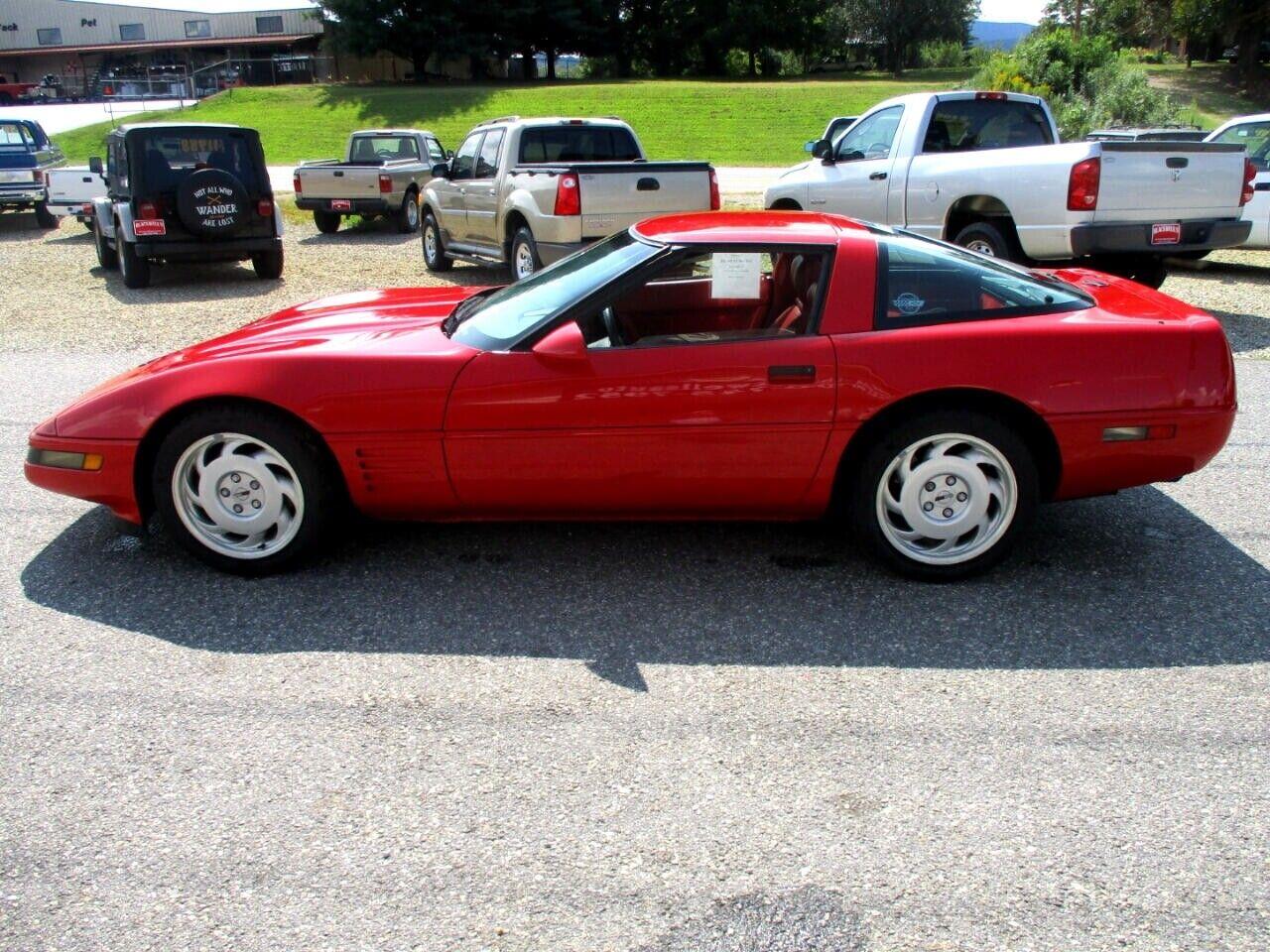 1991 Red Chevrolet Corvette Coupe    C4 Corvette Photo 6