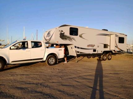 5th wheeler and holden Colarado Ethelton Port Adelaide Area Preview