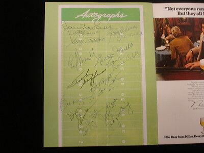 1978 NFL Alumni Convention Autographed Program - 16 Signatures