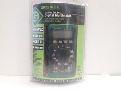 Greenlee Dm-510 Digital Pro Plant True Rms Multimeter 750 Vac 1000vdc Usa Seller
