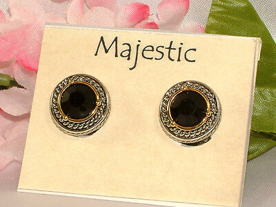 #628 GORGEOUS CLIP EARRINGS FROM MAJESTIC, SUPER SPECIAL PRICING, NEW ON CARD