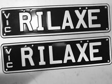 PERSONALISED NUMBER PLATES ( RILAXE ) REDUCED PRICE !!! Wangaratta Wangaratta Area Preview