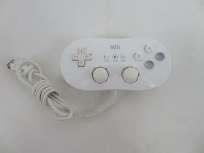 OEM Genuine Nintendo Wii Wired White Classic Controller RVL-005 # Works Great! #