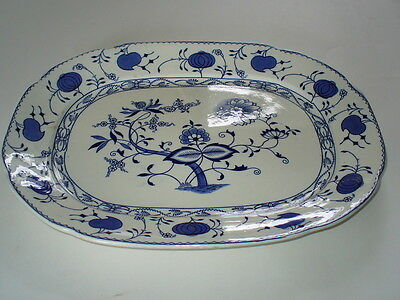 "Allerton's England BLUE ONION 15 1/4"" Oval Serving Platter on Rummage"