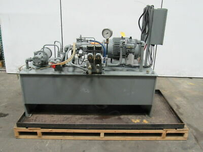 15hp 100 Gallon Power Unit Assembly Wheat Exchanger Valves 460v 3ph