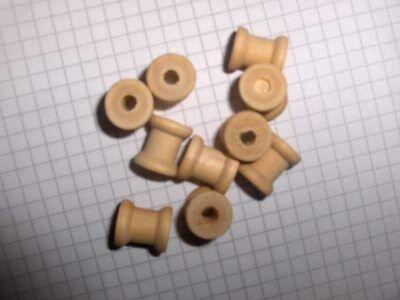 Spulen Spule 14 x 12,6 mm aus hellem Holz, nicht ben. (9334) (Holz Spule)