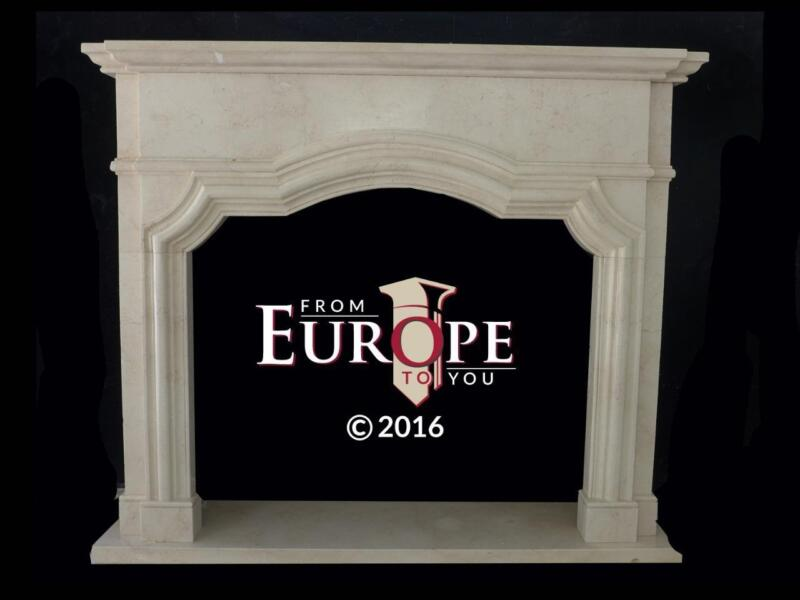 BEAUTIFUL HAND CARVED MARBLE FRENCH STYLE FIREPLACE MANTEL - FD45