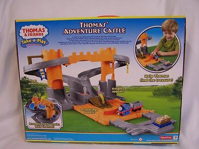 NEW THOMAS AND FRIENDS TAKE AND PLAY THOMAS' ADVENTURE CASTLE SET, NIB FOLD OUT