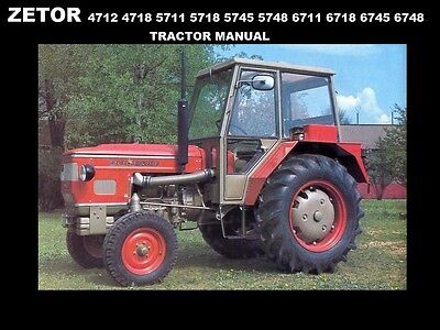 ZETOR 4712 4718 5711 5718 5745 5748 6711 TRACTOR MANUAL for Service & Repair