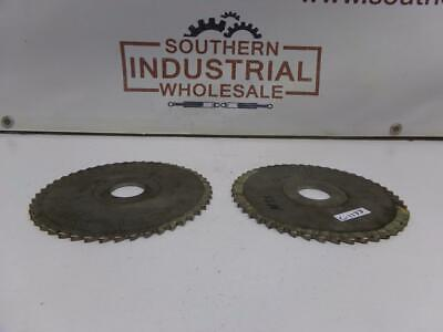 Hss 6.25 X 516x 1-14 48t Plain High Speed Steel Metal Slitting Saw Lot Of 2