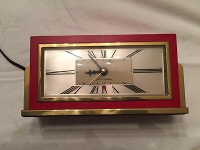 SETH THOMAS BAXTER Electric Mantel Shelf Clock  Works RED