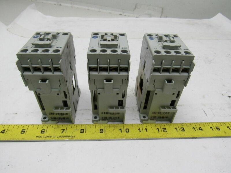 A-B Allen Bradley 700-CF400D SeriesA Contactor Control Relay 24VDC Coil Lot of 3