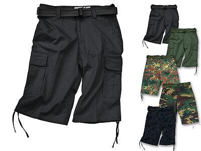 CI Army Bermudas Shorts mit Gürtel kurze Hose Sommerhose Bermudashorts S-XXL