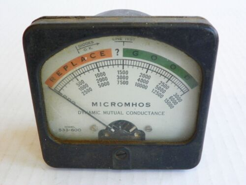 VTG Hickok Electrical Instrument 0-15000 Micromhos Panel Meter, MODEL 533-600
