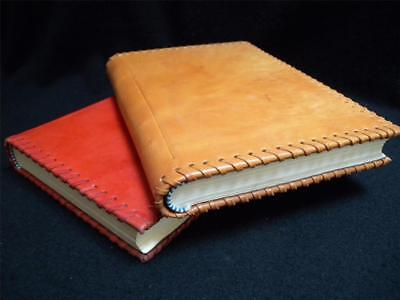 Antique Leather Journals - Handmade Antique-Look Leather Journal - Traditional Cord-Binding - Unlined Pages