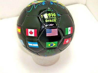 FIFA 2014 Brazil world cup Black MINI soccer ball size 2 sz flags - International Soccer Ball