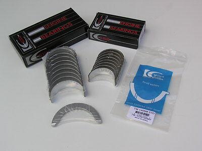 Rod Main Engine Bearings - JDM King Rod Main Thrust Bearings Bearing Honda Prelude H22 H23 SI Accord VTEC