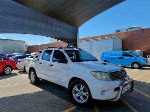 2007 Toyota Hilux KUN16R 07 Upgrade SR White 5 Speed Manual Dual Cab Pick-up