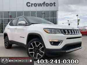 2018 Jeep Compass LIMITED WITH LEATHER & SUNROOF 4X4