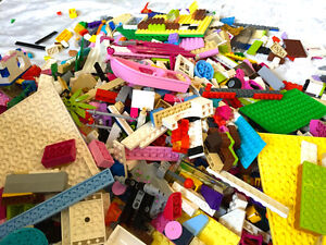 6-lbs-pounds-LEGO-Friends-Pink-Purple-Blue-etc-Minifigs-Baseplates-jewels